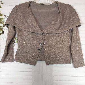 Karen Millen cropped 3/4 sleeves knit cardigan